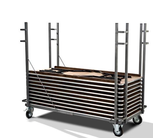 Transportwagen BTE für eckige Bankett-Tische