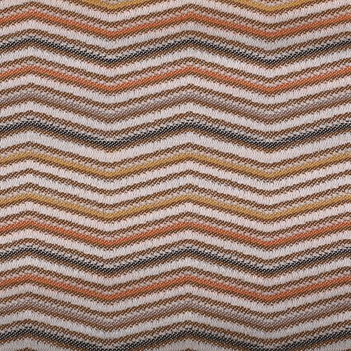 Stoff mit Zick-Zack Muster LINN05 beige-braun