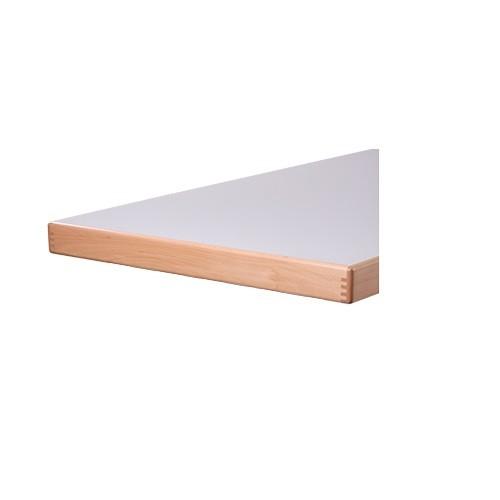 Tischplatte Melaminharz - Aufkantung 65 mm stark -