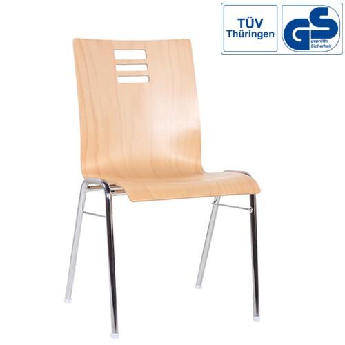 Konferenzstuhl Stapelstuhl Holzschalenstuhl COMBISIT A46