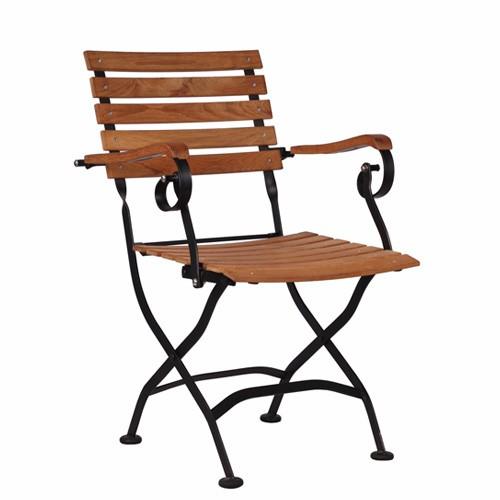 Sudedama kėdė laukui su porankiais SENJA AL