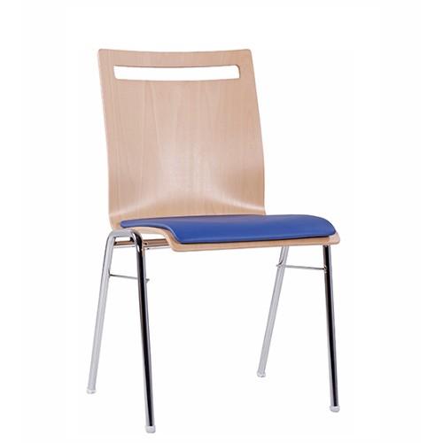 Stapelstuhl Konferenzstuhl COMBISIT A45 mit Sitzpolster