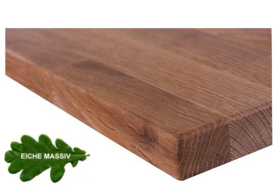 Tischplatte Eiche massiv - 26 mm stark