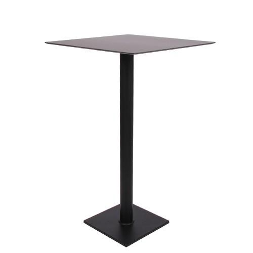 Stehtisch SALENTO 40H mit HPL-Kompakt-Tischplatte 69 x 69cm, schwarz