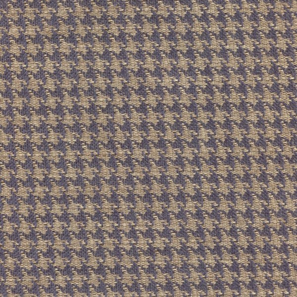 Stoff mit Pepita-Muster PEP57 blau-beige