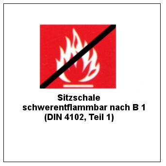 lakavimas sutinkamai su B1 (DIN 4102, 1 dalis)