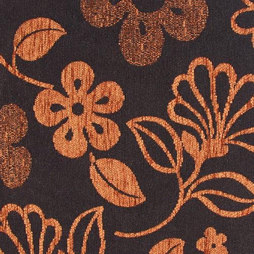 Stoff mit Blumen-Muster GL7 braun