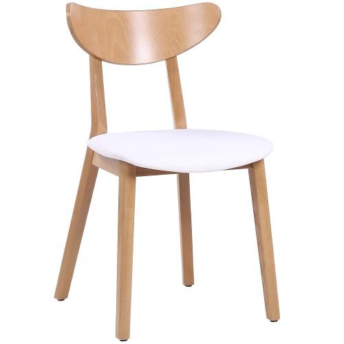 Formschöner moderner Restauranttuhl ENZO mit Sitzpolster