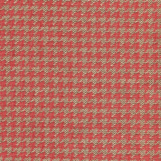 Stoff mit Pepita-Muster PEP39 beige-rot