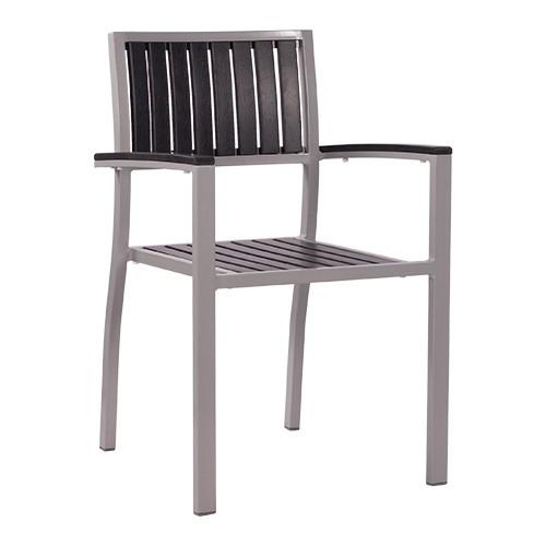 Stuhl mit Armlehnen TIMOR anthrazit - stapelbar