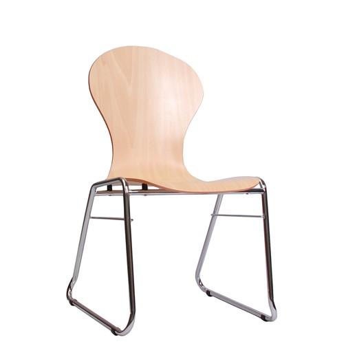 Holzschalenstuhl / Stapelstuhl COMBISIT C10 ohne Sitz- und Rückenpolster