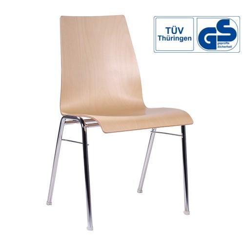 Holzschalenstuhl / Stapelstuhl COMBISIT A51 ohne Sitzpolster