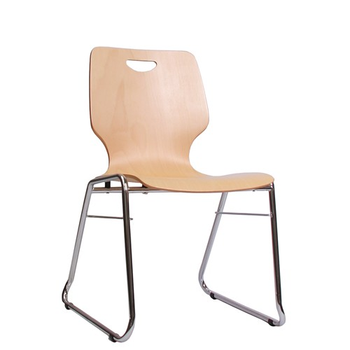 Holzschalenstuhl / Stapelstuhl COMBISIT C20G mit Griffloch ohne Sitzpolster