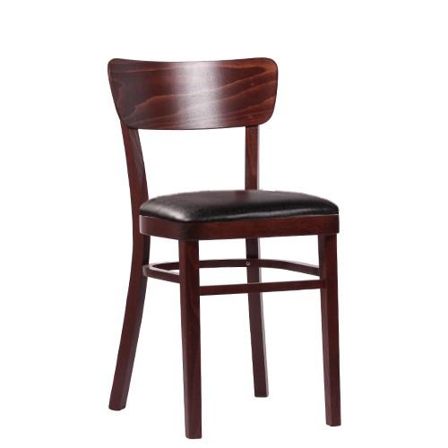 Medinė kėdė NICO P, antikinė tamsiai ruda dirbtinė oda