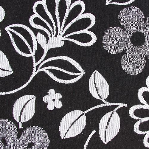 Stoff mit Blumen-Muster GL3 weiß