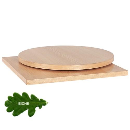 Tischplatte MDF mit Echtholzfurniert Eiche-30 mm stark
