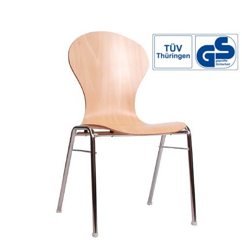 Holzschalenstuhl / Stapelstuhl COMBISIT A10