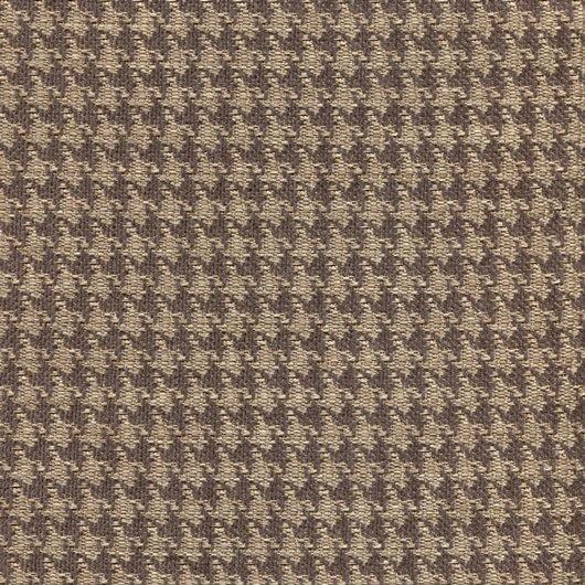 Stoff mit Pepita-Muster PEP46 beige-dunkelbraun