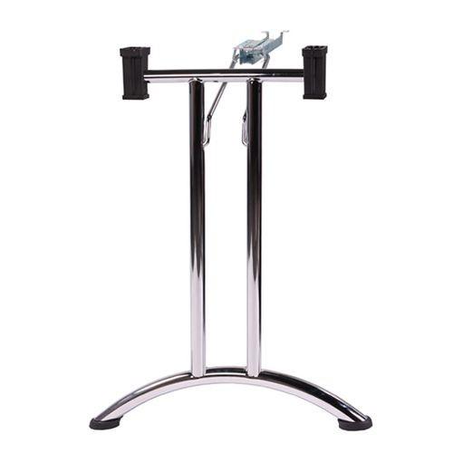 Sulenkiamos stalo kojos TG2, chromuotos ( 2 vnt. kompl. )