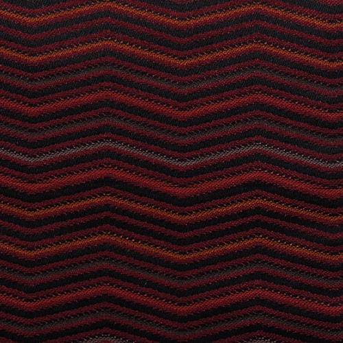 Stoff mit Zick-Zack Muster LINN09 weinrot-grau