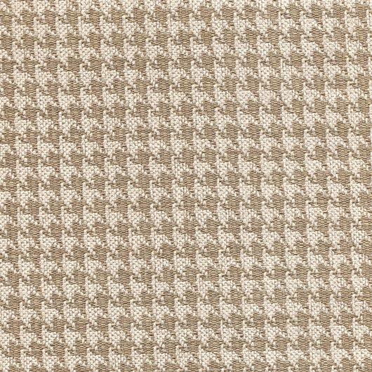 Stoff mit Pepita-Muster PEP14 beige braun