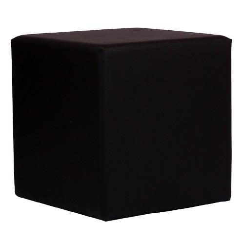 Sitzwürfel schwarz in KUBIX Form (45x45 cm) gepolstert