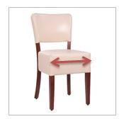 standartinio dydžio sėdynėlė 42 x 42 cm