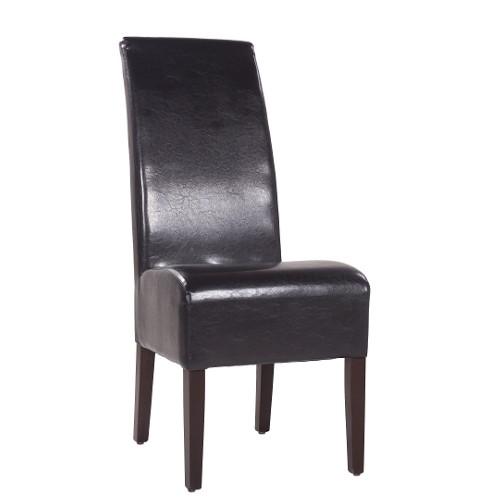 Kėdėl MARCUS, antikinė tamsiai ruda dirbtinė oda