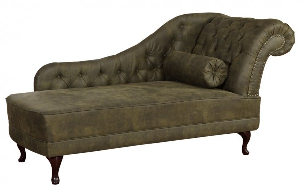 Chaiselongue Recamiere im Chesterfield Look