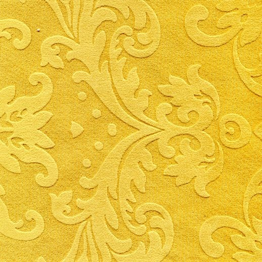 Stoff mit floralen Ornamenten BD25 goldgelb