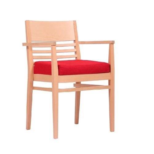 Kėdė su porankiais LAURIN P AL, pleišto formos sėdynėlė