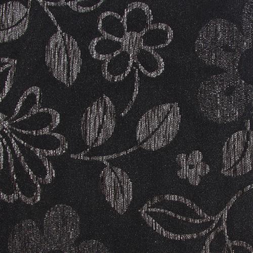 Stoff mit Blumen-Muster GL8 anthrazit