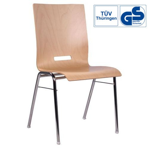 Holzschalenstuhl / Stapelstuhl COMBISIT A42