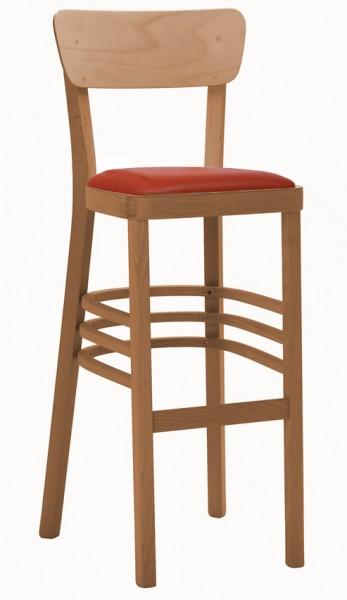 Medinė baro kėdė su paminkštinta sėdynėle NICO P PLUS