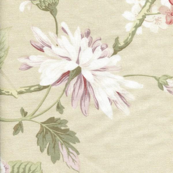 Stoff mit Blumen-Muster LC 83 beige
