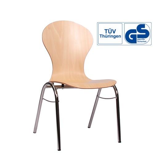 Holzschalenstuhl / Stapelstuhl COMBISIT B10 ohne Sitzpolster